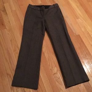 Brown / taupe lined dress pants from J. Crew